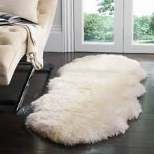 Safavieh Handwoven Sheepskin Pelt White Shag Rug 2u0027 X