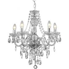 8885 5cl marie therese 5 light chandelier polished chrome