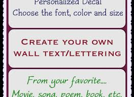 Small Picture CREATE YOUR OWN CUSTOM WALL QUOTE DESIGN STICKER TRANSFER DECAL