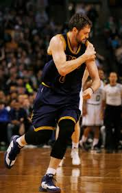 kevin love 2015. Fine 2015 Cleveland Cavaliers Forward Kevin Love Runs Off The Floor Holding His  Shoulder During First Quarter Of A Firstround NBA Playoff Basketball Game In  On 2015