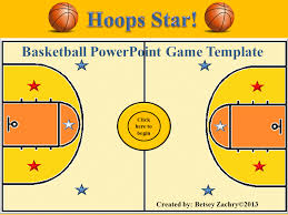 Basketball Powerpoint Template Hoops Star Basketball Powerpoint Game Template Slp Resources