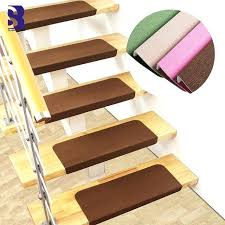 piece free installation stair mat self adhesive treads rug non tread comfort ca carpet stair with adhesive padding treads