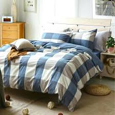 twin size duvet covers whole fashion plaid washed cotton grey white blue bedding set king queen