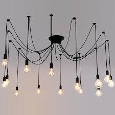 diy multi pendant light modern spider style chandelier multi pendant light ceiling lamp loft fixture diy