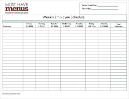 Free Employee Schedule Calendar Hour Employee Schedule Template Hour Work Schedule Template Excel