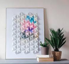 diy wall decor paper. DIY Origami Wall Display. Paper Art Diy Decor