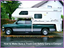 How to Make Sure Your Truck Can Safely Carry a Slide-In Camper ...