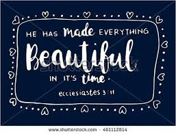 Bible Quote Cool Bible Quote Has Made Everything Beautiful Stock Vector Royalty Free