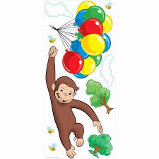 curious george l and stick giant wall decals