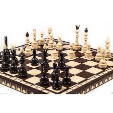 brand new luxury hand carved indian wooden chess set