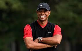 Tiger Woods looks a changed man as he continues to make golfing history