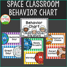Standard Behavior Chart Space Classroom Behavior Chart