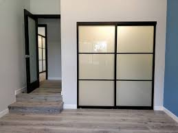 with our premium quality glass and wood styles and aluminum frame state of the art track and wheel system your closets will be a pleasure to use and long