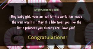 Welcoming Baby Girl New Baby Girl Wishes Quotes And Congratulation Messages Events