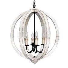 wood orb chandelier 6 light distressed wooden free uk