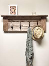 rustic wooden entryway walnut coat rack rustic wooden shelf entryway rack coat rack rustic home decor rustic furniture floating shelf