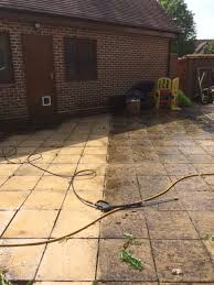 how to remove black spots on a patio