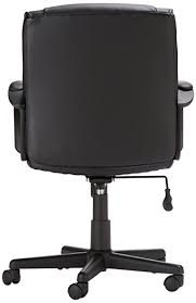office chair back. amazon.com: amazonbasics mid-back office chair, black: kitchen \u0026 dining chair back amazon.com