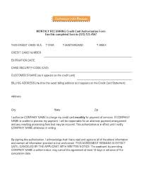 Credit Card Authorization Forms Templates Ready To Use Payment Form