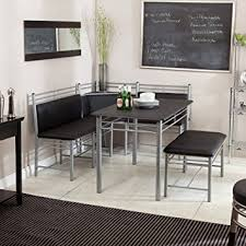 Amazon Breakfast Nook Black Family Diner 3 Piece Corner