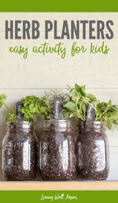 How to make easy herb planters for kids - welcome spring and teach kids how  to