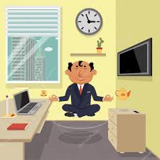 meditation businessman office. company head office meditation u2014 vector by ice245 businessman n