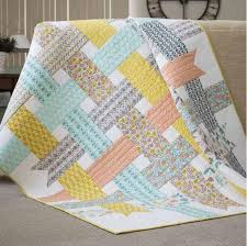 Baby Quilt Pattern Unique Nordic Ribbons Baby Quilt Pattern Baby Quilt Patterns Pinterest