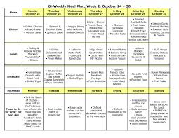 weekly meal planning for two bi weekly meal plan large plan diet photo shared by perry 1 fans