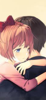 1242x2688 Cute Anime Couple Hug Iphone ...