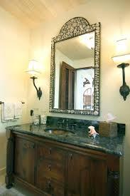 big bathroom mirrors powder room lighting ideas bronze framed mirror decorative bath mirrors
