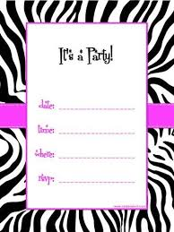 Free 13th Birthday Invitations Free Printable Birthday Invitations For Girls Zebra Theme