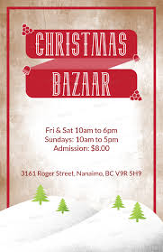 Christmas Flyer Templates Christmas Flyer Template For A Holiday Bazaar With Winter Landscape Illustration 867