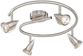 vaxcel sp34118sn spotlight modern satin nickel finish 6 nbsp tall halogen track lighting kits loading zoom