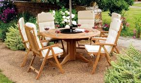 round table with integrated sun visor wooden garden furniture maintain regular cleaning and oiling