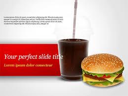 Food Presentation Template Fast Food Illustration Free Presentation Template For