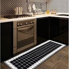 longshien carpet 2 piece geometric pattern non slip kitchen mat doormat runner rug set bathroom rugs