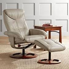 Newport Taupe Swivel Recliner And Slanted Ottoman Recliner Ottoman97