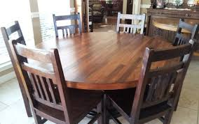 kitchen style centerpiece table sets chairs glass diy and for gorgeous oak circle farmhouse round inches