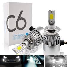 H7 Led Lights Details About Safego 2x 72w H7 Led Car Headlight Bulbs Kit Cob Chip Car Auto Lamp Lights 6000k