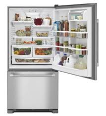 Energy Efficient Kitchen Appliances Residential Refrigerator Freezer With Drawer Stainless Steel