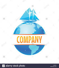 Vector Logo For Delivery Company Travel Cruise Journey