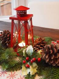 Simple Candle Decoration Home Decoration Red Tower Christmas Candle Lantern Centerpiece