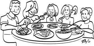 dinner table clipart black and white. family clip art black and white. dinner clipart table white n