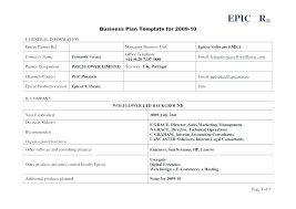 A Simple Business Plan Template Small Business Plan Template Uk