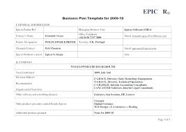 Basic Business Plan Template Small Business Plan Template Uk