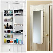 white over the door jewelry armoire with shelves on white door for home decoration ideas