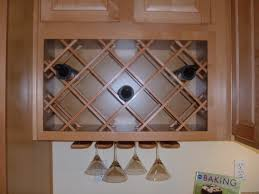interior beige wooden kitchen cabinet integrated with crossed wine rack creative fresh 3 kitchen