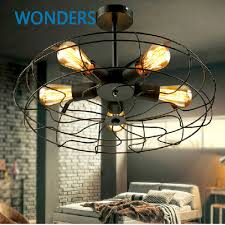 vintage ceiling lighting. Rh Loft Vintage American Personality Industrial Style Electric Fan Ceiling Light With 5pcs E27 Edison Bulbs-in Lights From \u0026 Lighting