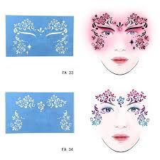 new soft reusable face paint stencil tattoo template flower face paint design painting tool for