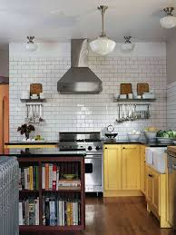 Kitchen Tile Design Ideas Modern Kitchen Design Ideas Subway Tile With  White Backsplash Bowl Plate Ceiling Lamp And Sink Stainless Stove Hood  Extractor ...